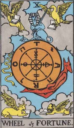 X - Wheel of Fortune - Major Arcana