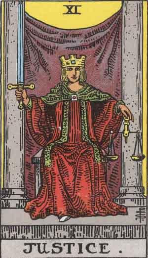 XI - Justice - Major Arcana
