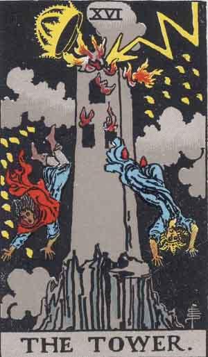 XVI - The Tower - Major Arcana