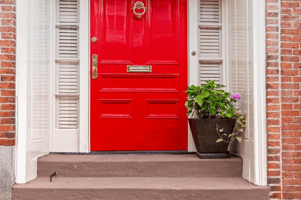 front door red