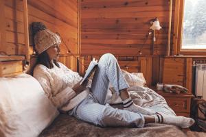 reading book cozy