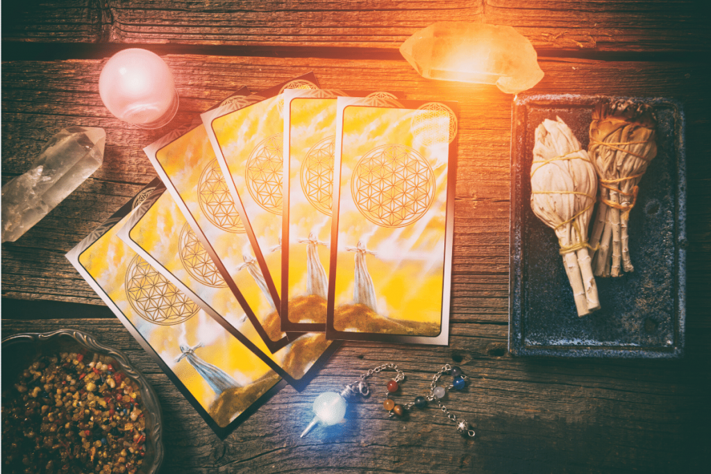 how to cleanse tarot cards with smudge stick and crystals