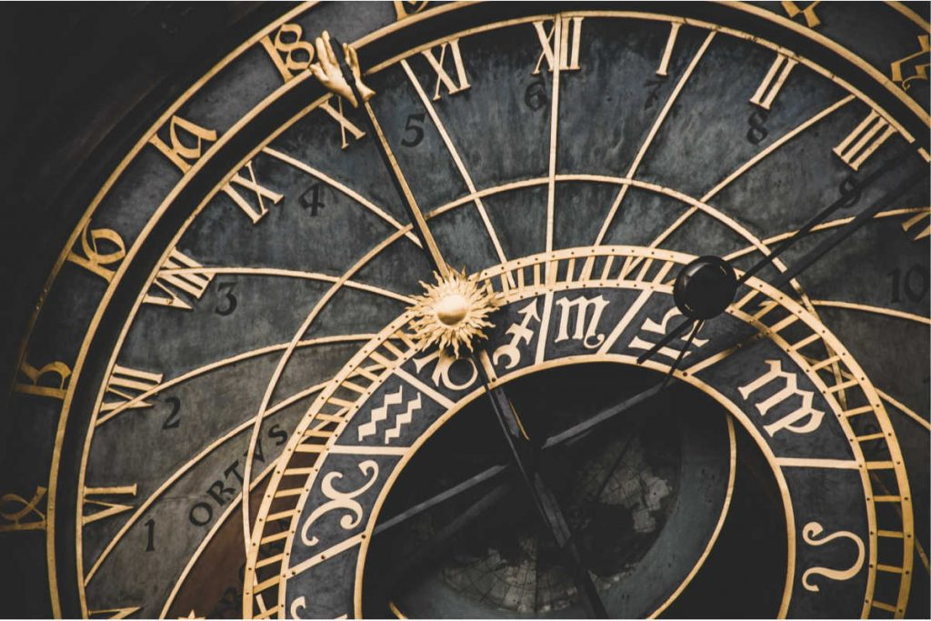 black and gold clock keep seeing birth time