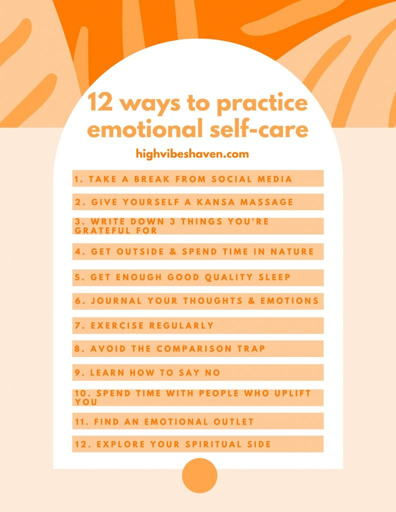 12 ways to practice emotional self-care
