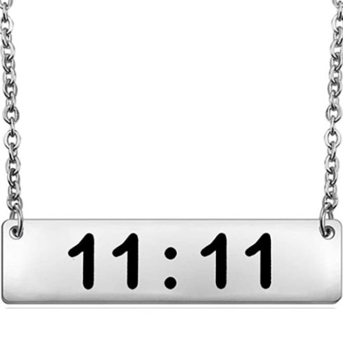 11:11 silver necklace