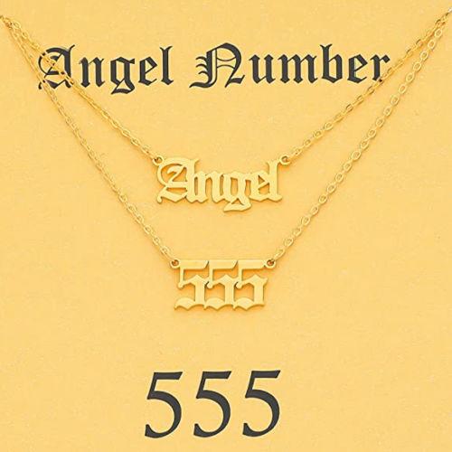angel number 555 necklace