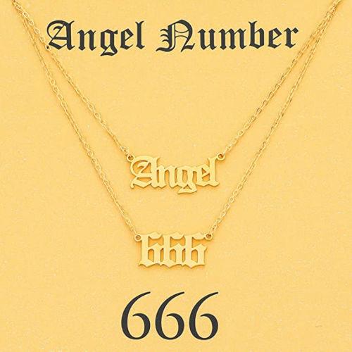 angel number 666 necklace