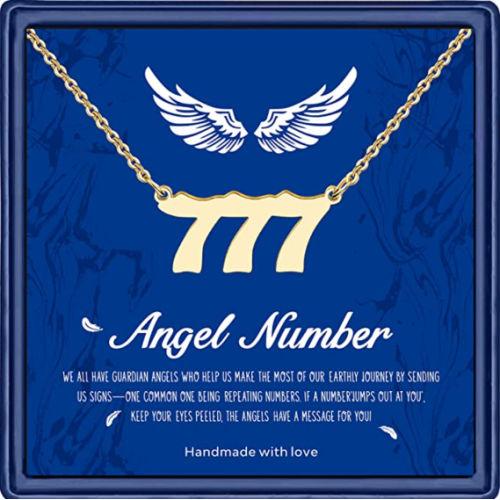 777 angel number necklace