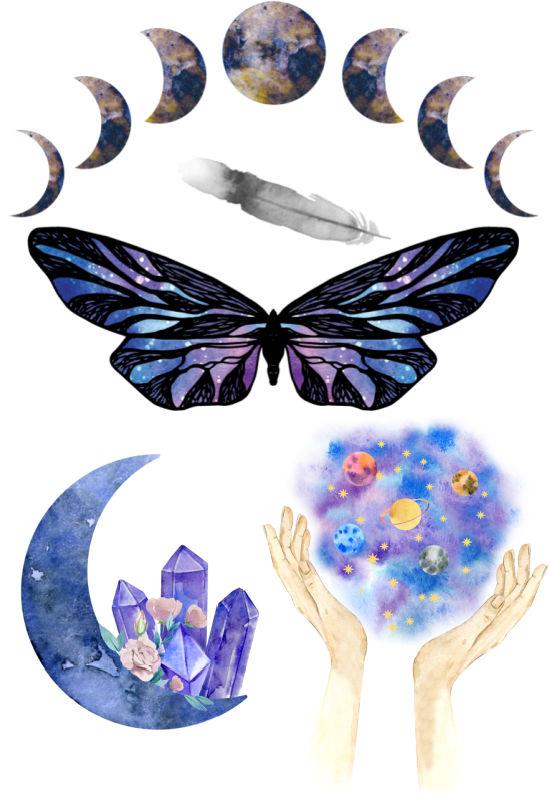 symbols watercolor